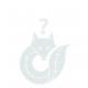 Poly Elch Waldos, H35cm, L25cm, weiß